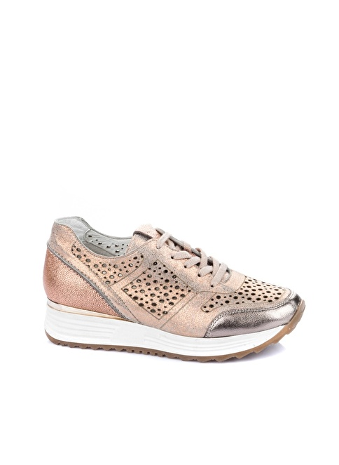 Elle Deri Sneakers Ayakkabı Bakır